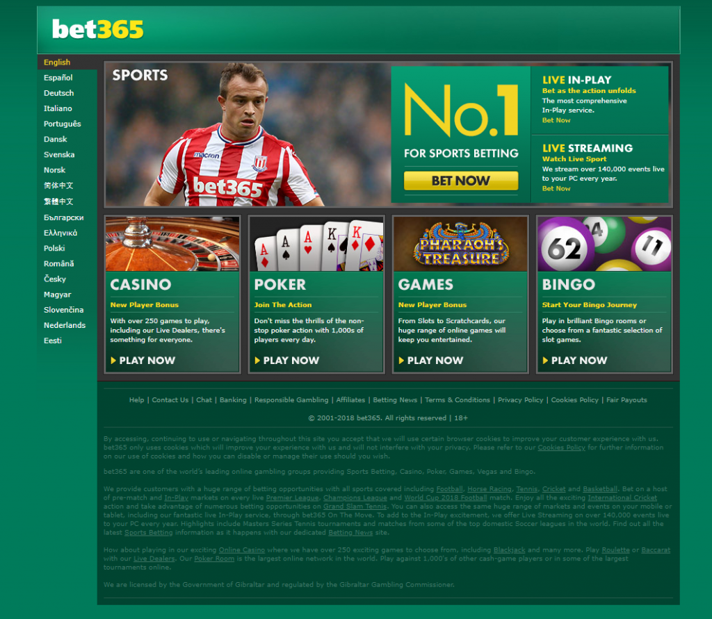 Bet365 Sportsbook Review 2018